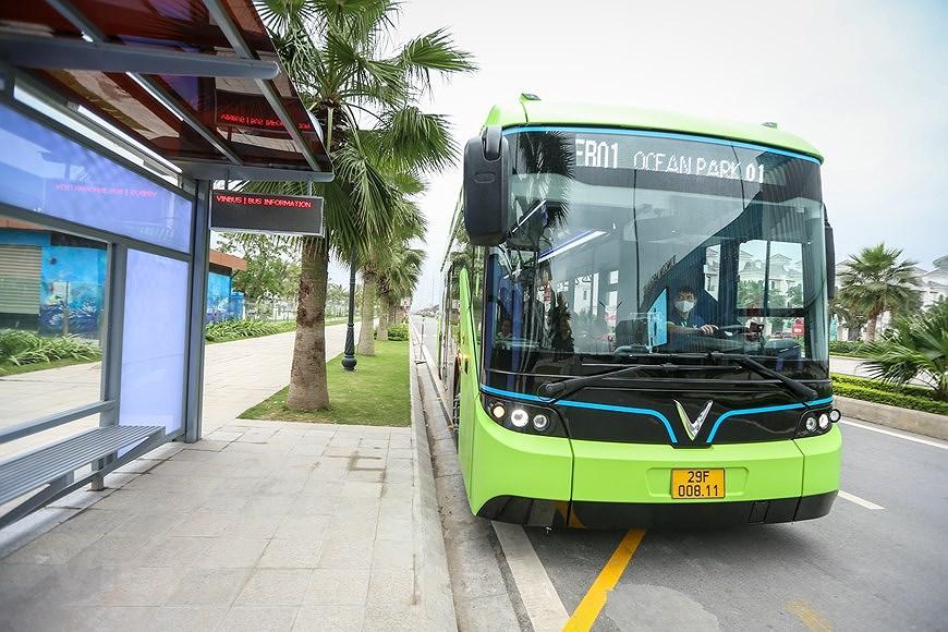 组图:VinBus开发的越南首个智能电动公交车投入运营 hinh anh 9
