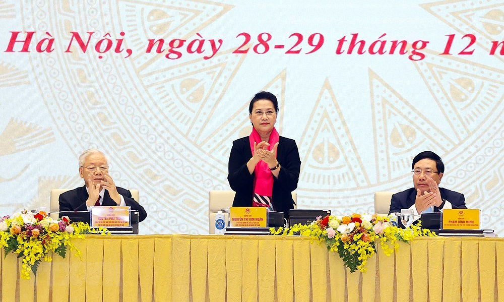 National conference on implementation of 14th NA's resolution hinh anh 4