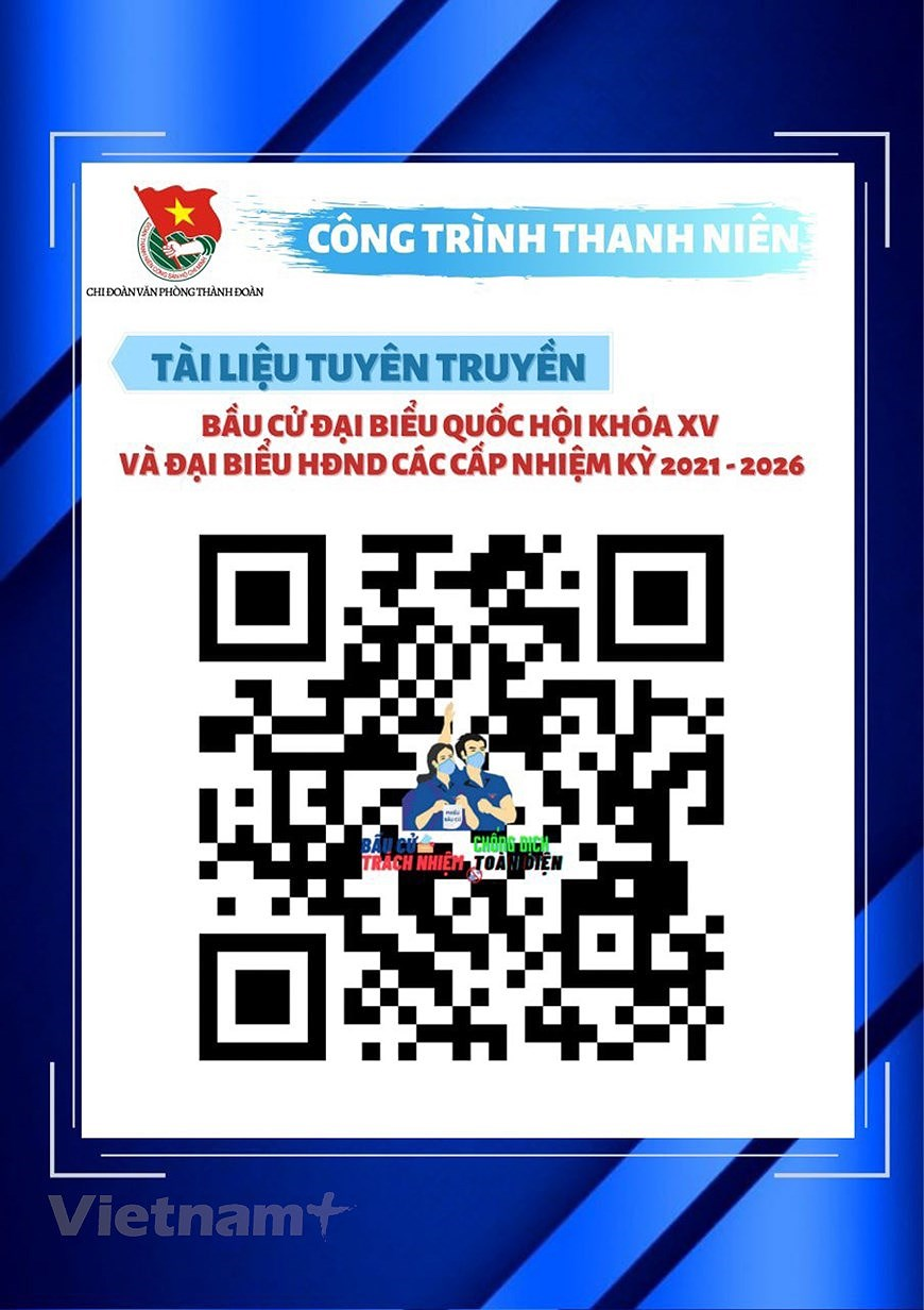 Hanoi Youth Union members active to popularise election hinh anh 5