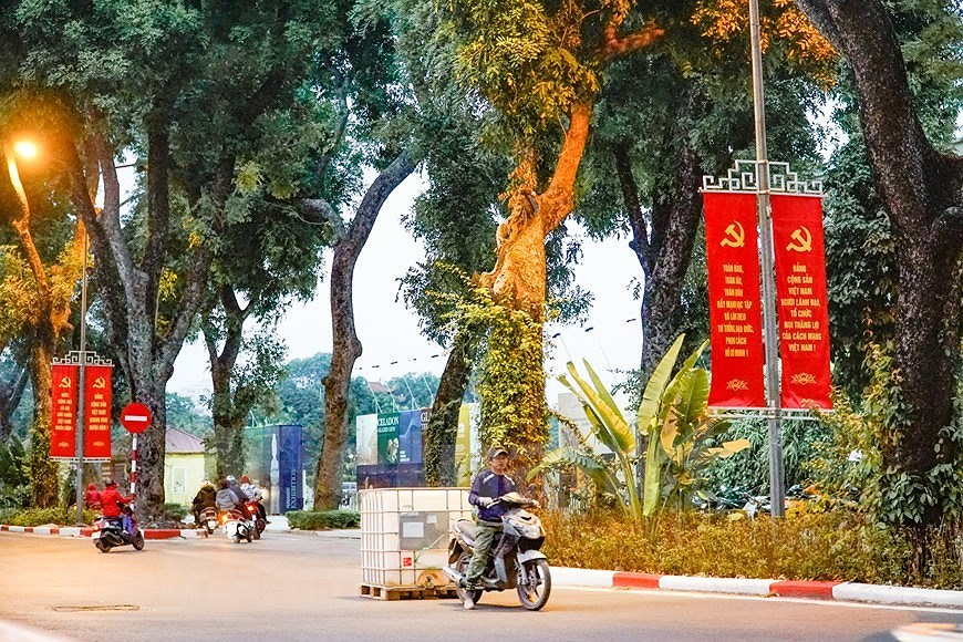 Hanoi's streets adorned to welcome 13th National Party Congress hinh anh 15