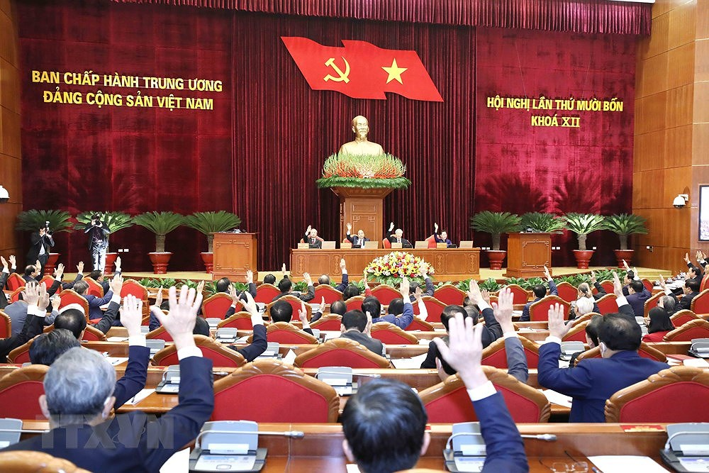 Party Central Committee's 14th meeting opens hinh anh 7