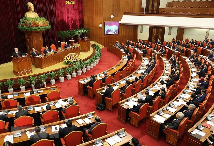 Party Central Committee's 14th meeting opens hinh anh 4