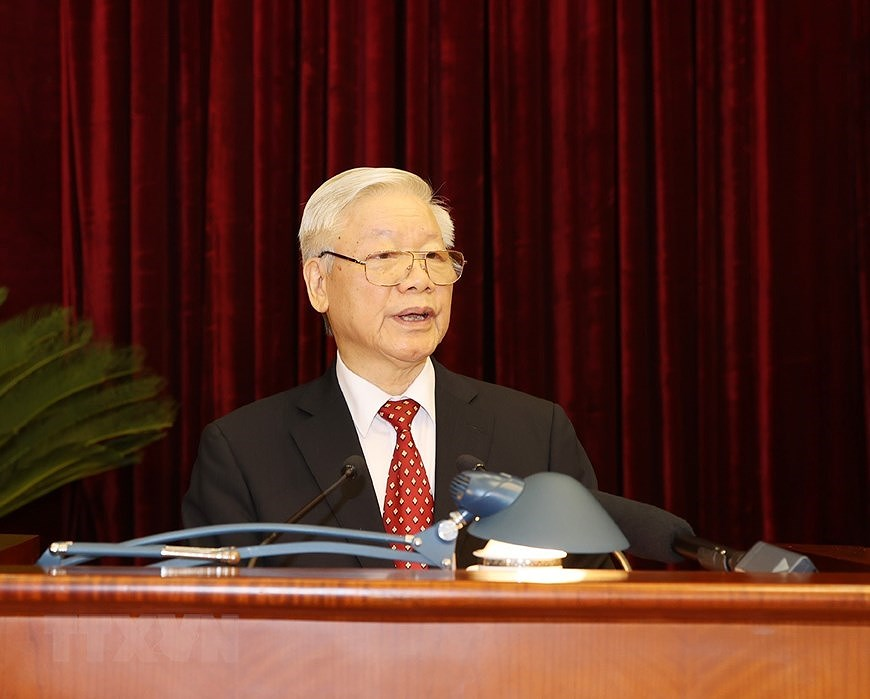 Party Central Committee's 14th meeting opens hinh anh 5