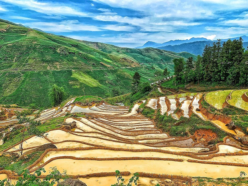 Y Ty rice terraces in pouring-water season hinh anh 5