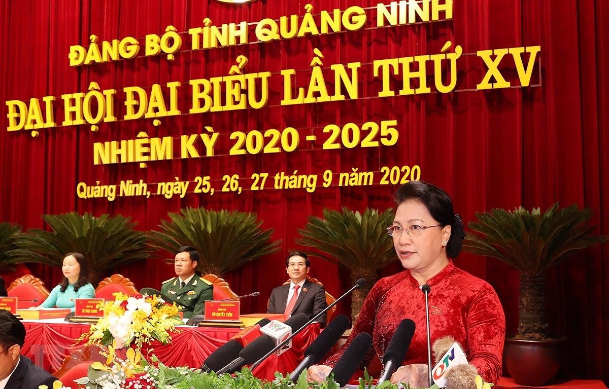 Top legislator attends Quang Ninh Party organisation's congress hinh anh 1