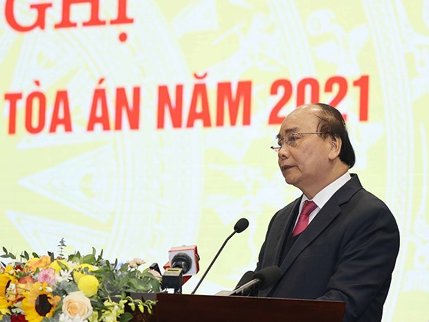 """PM asks court sector to become """"stronghold of justice"""" hinh anh 1"""