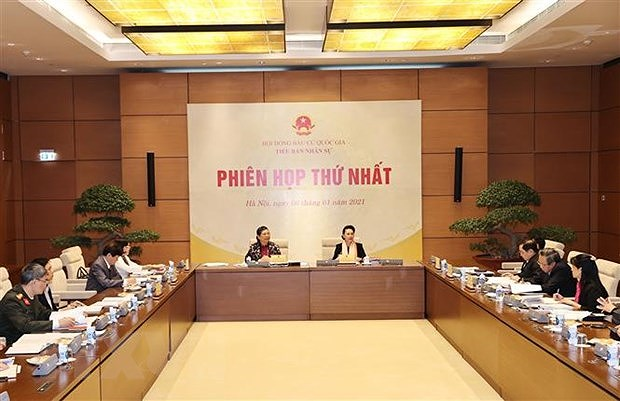 Sub-committee considers number, structure of deputies of 15th legislature hinh anh 1