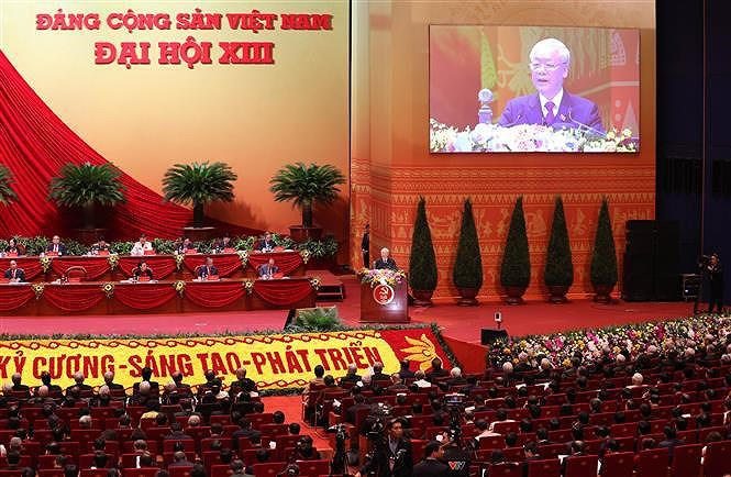 13th National Party Congress: Stepping up renewal process, rapid and sustainable national development hinh anh 1