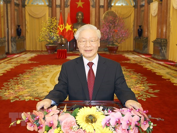 More congratulations flow in for Party leader Nguyen Phu Trong hinh anh 1