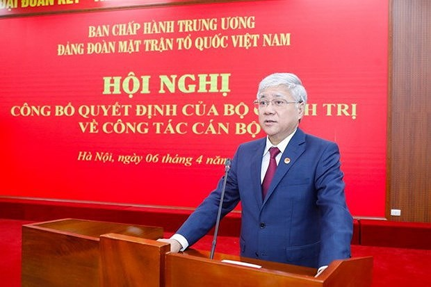 Party Delegation of Vietnam Fatherland Front has new chief hinh anh 1