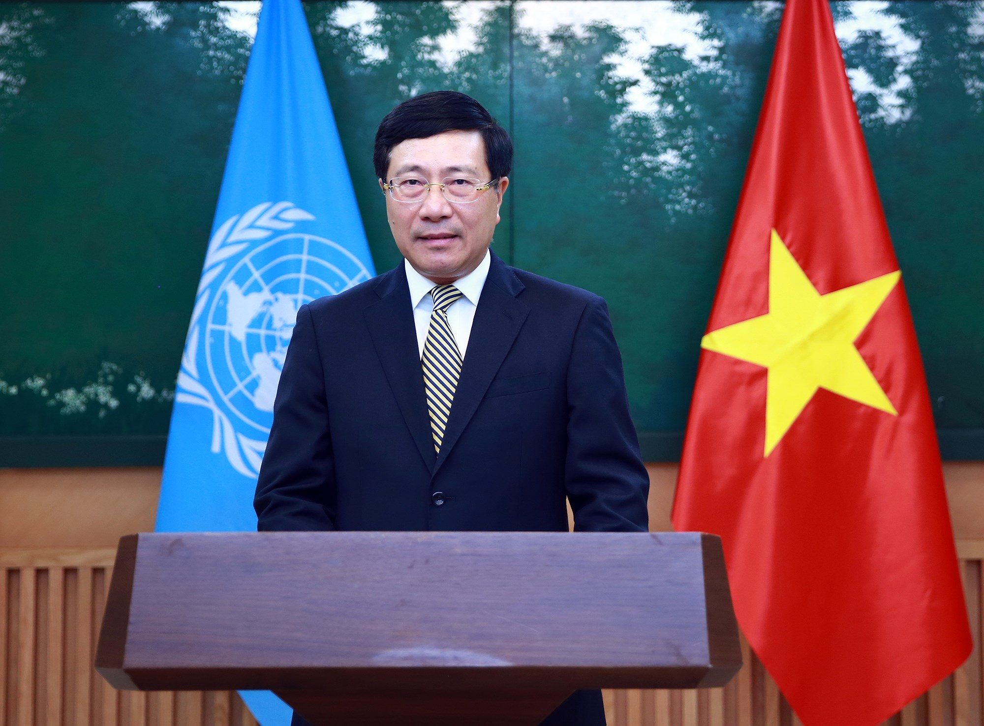Deputy PM sends message to 77th Session of UNESCAP hinh anh 1