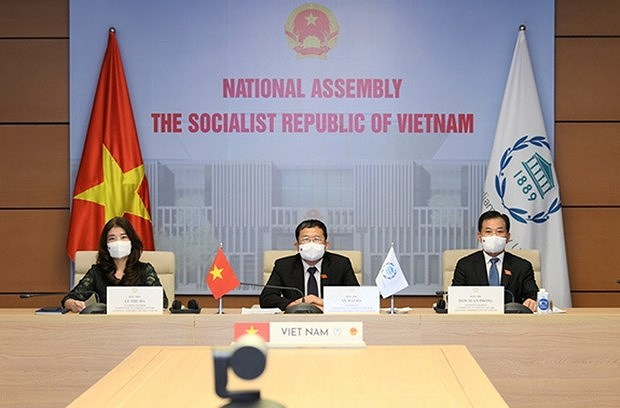 Vietnam attends IPU's virtual meeting on peace, security issues hinh anh 1