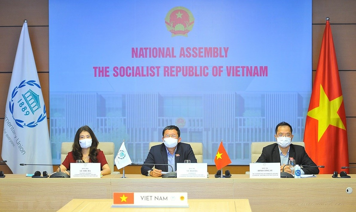 Vietnam attends 142nd IPU Assembly's plenum, closing session hinh anh 1