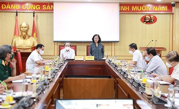 Steering committee discusses plan on developing grassroots Party units hinh anh 1