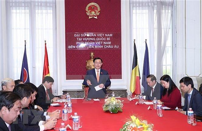 Top legislator meets Vietnamese community in Belgium hinh anh 2