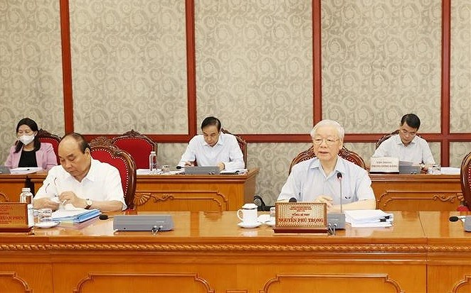 Corruption fight must be associated with negative phenomena prevention: Party chief hinh anh 1