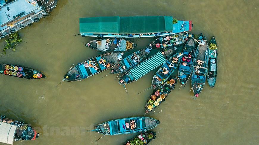 Cai Rang floating market – fantastic tourism hotspot in Mekong Delta hinh anh 2