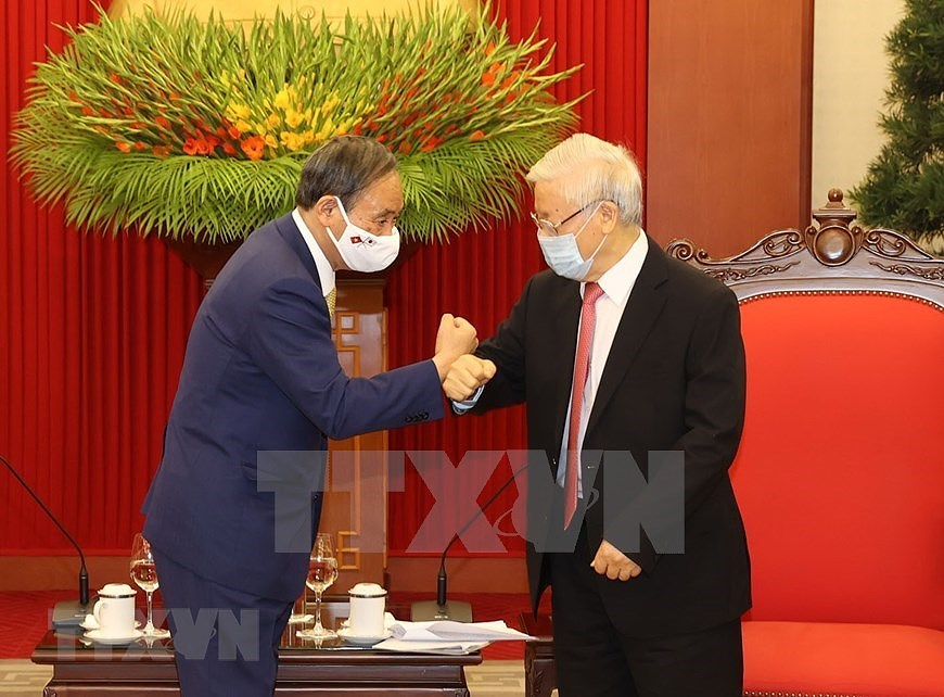 Party, State leader receives Japanese Prime Minister hinh anh 1