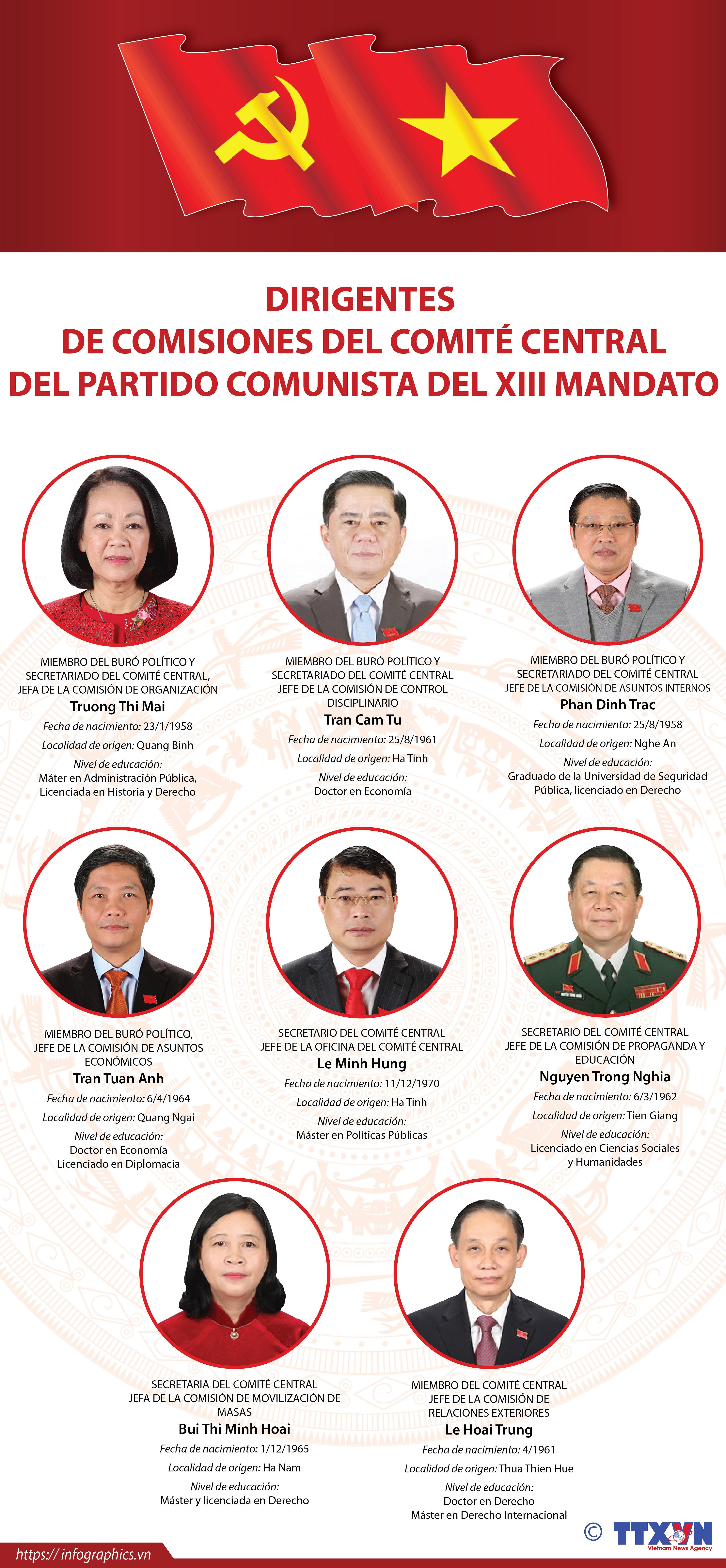 Los dirigentes de las comisiones del Comite Central del Partido Comunista de Vietnam hinh anh 1