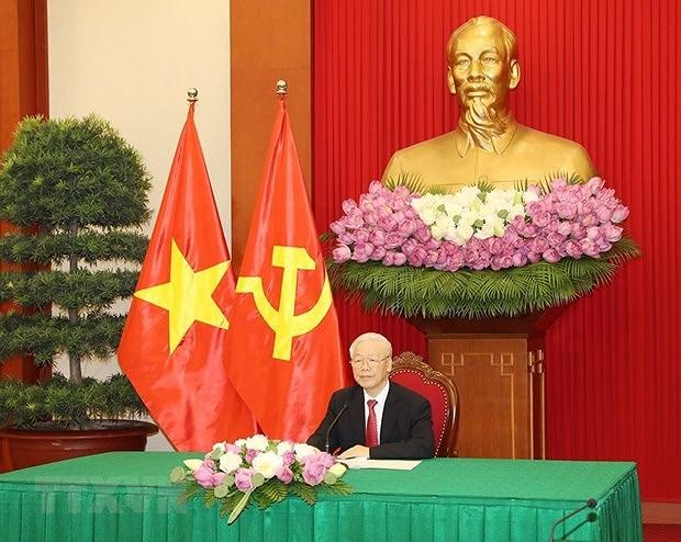 Maximo dirigente partidista de Vietnam dialoga con presidente de Sri Lanka hinh anh 1