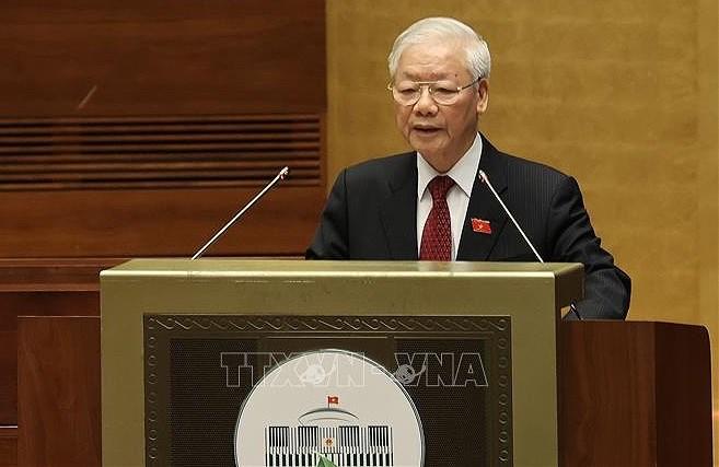 Maximo dirigente partidista de Vietnam insta a fortalecer papel de Parlamento hinh anh 1