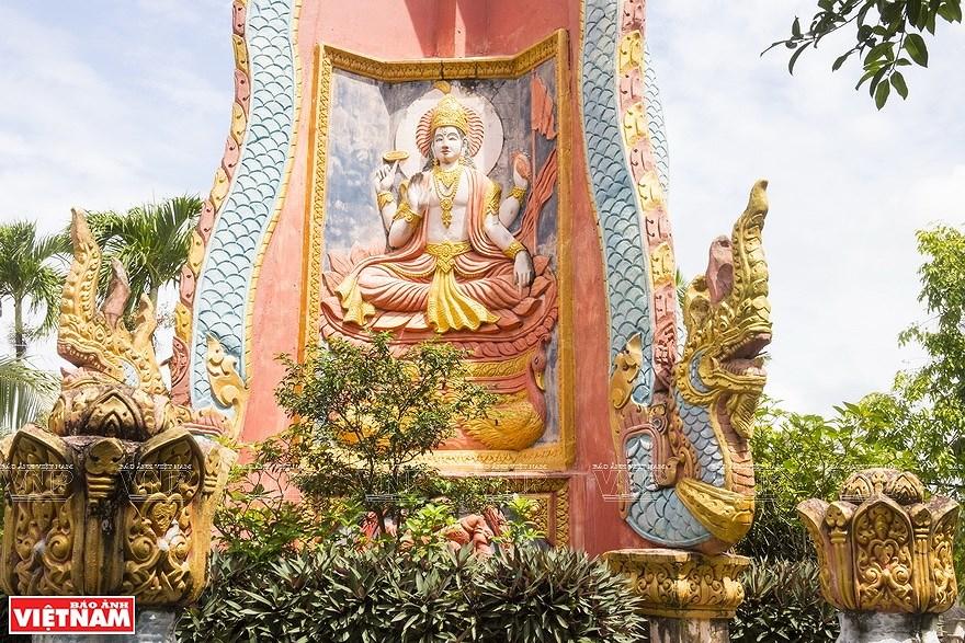 Pagoda Ghositaram: museo de bellas artes de los khmeres en Vietnam hinh anh 7