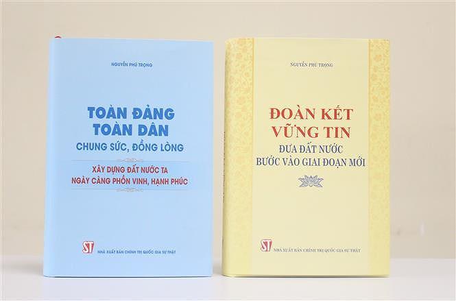 Deux livres riches en theorie et en pratique du leader du Parti Nguyen Phu Trong hinh anh 1