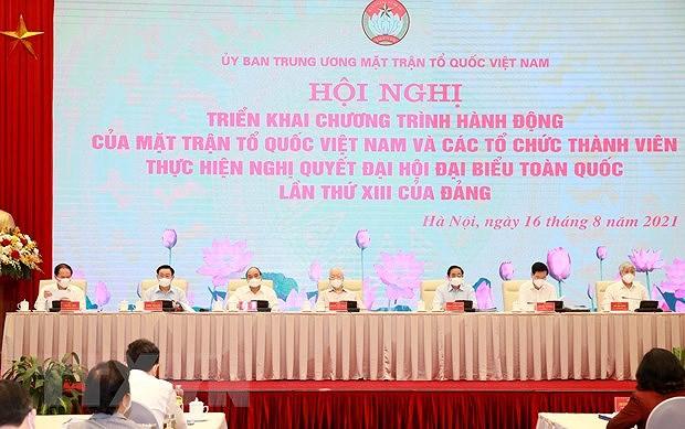 Le chef du Parti assiste a une conference national du FPV et de ses organisations membres hinh anh 1