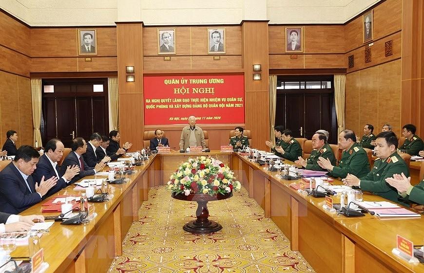 La Commission militaire centrale fait le bilan des activites de 2020 hinh anh 1